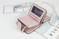 Жіночий гаманець, клатч Baellerry Forever Mini, балери. Пудровий. Замша PU, фото 7