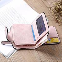 Жіночий гаманець, клатч Baellerry Forever Mini, балери. Пудровий. Замша PU, фото 8