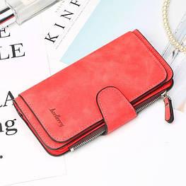Жіночий гаманець, клатч Baellerry Forever, балери. Червоний. Замша