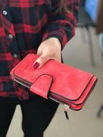 Жіночий гаманець, клатч Baellerry Forever, балери. Червоний. Замша, фото 2