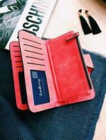 Женский кошелек, клатч Baellerry Forever, балери. Красный. Замша, фото 3