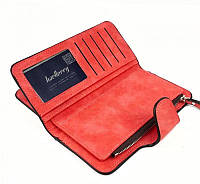 Жіночий гаманець, клатч Baellerry Forever, балери. Червоний. Замша, фото 5