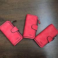 Жіночий гаманець, клатч Baellerry Forever, балери. Червоний. Замша, фото 6