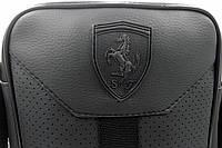 Стильная сумка через плечо, барсетка Puma Ferrari, пума ферари. Черная, фото 9