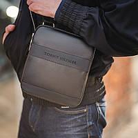 Стильная сумка через плечо, барсетка Tommy Hilfiger, томи. Черная, фото 2