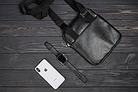 Стильная сумка через плечо, барсетка Tommy Hilfiger, томи. Черная, фото 7