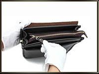 Якісна чоловіча сумка через плече Polo Videng, поло. Темно-коричнева. 24x21x7, фото 2