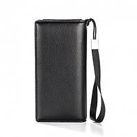 Клатч чоловічий шкіряний гаманець. Чорний. Baellerry Classic. Балери, фото 2
