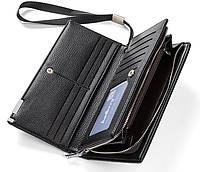 Клатч чоловічий шкіряний гаманець. Чорний. Baellerry Classic. Балери, фото 5