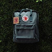 Стильний рюкзак, сумка Fjallraven Kanken Classic, канкен класік. Сірий / 7108, фото 3