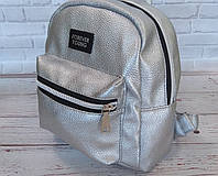 Новинка! Маленький жіночий рюкзак Forever Young. Срібло., фото 6