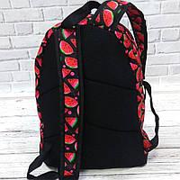 Яркий, стильный рюкзак с принтом Арбуз. Для путешествий, тренировок, учебы.  Рюкзак достаточно вместительный., фото 2