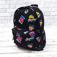 Стильний рюкзак з принтом Fresh Brains. Для подорожей, тренувань, навчання, фото 5