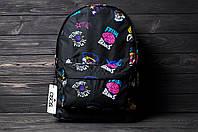 Стильный рюкзак с принтом Fresh Brains. Для путешествий, тренировок, учебы, фото 6