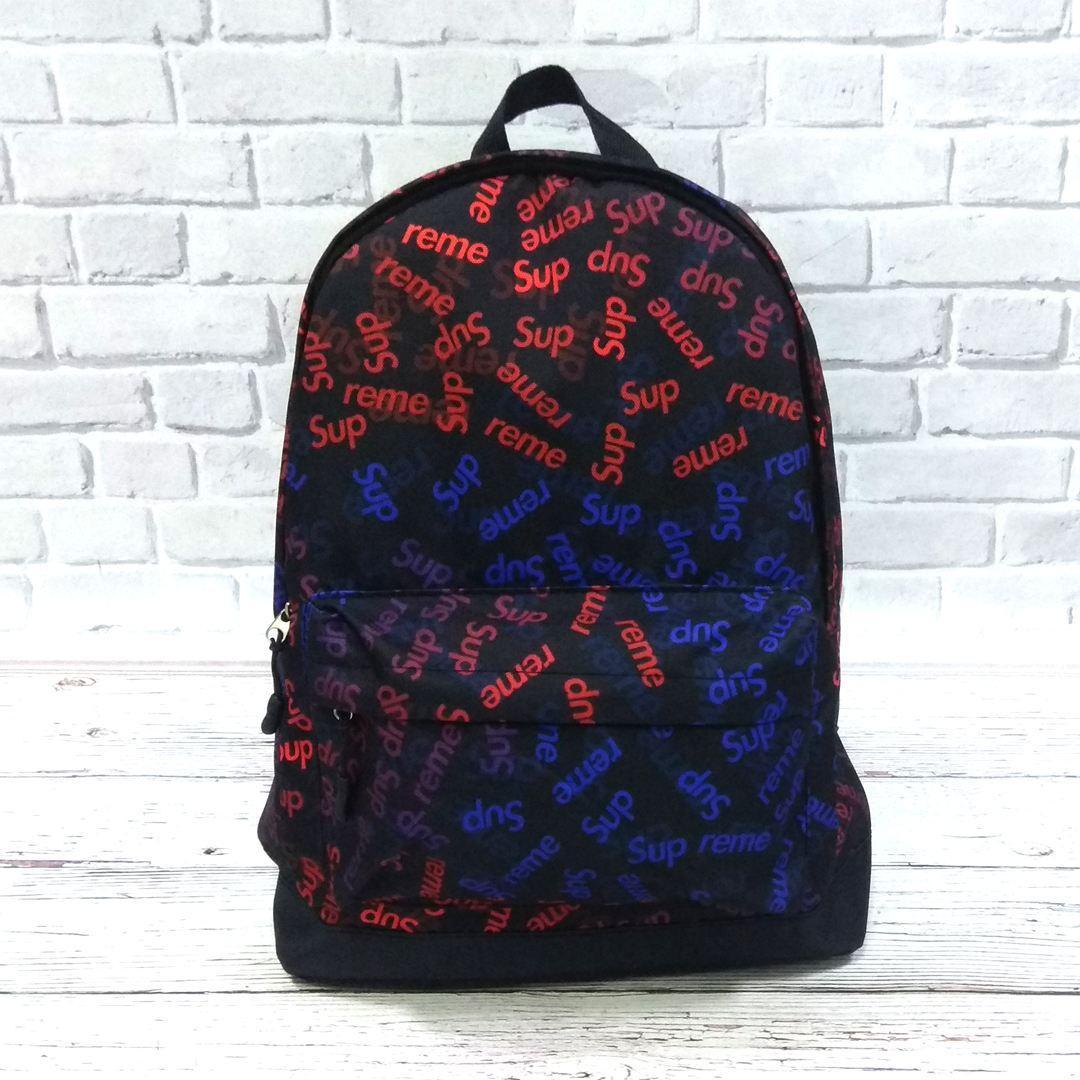 Молодіжний рюкзак з принтом Супрім, Supreme. Для подорожей, тренувань, навчання