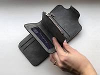 Жіночий гаманець, клатч Baellerry Forever Mini, балери. Темно-сірий. Замша PU, фото 2