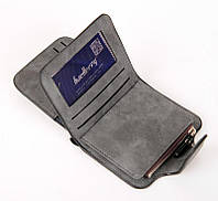 Женский кошелек, клатч Baellerry Forever Mini, балери. Темно-серый. Замша PU, фото 3