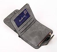 Жіночий гаманець, клатч Baellerry Forever Mini, балери. Темно-сірий. Замша PU, фото 3