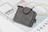 Женский кошелек, клатч Baellerry Forever Mini, балери. Темно-серый. Замша PU, фото 4
