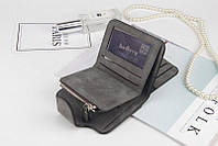 Женский кошелек, клатч Baellerry Forever Mini, балери. Темно-серый. Замша PU, фото 6