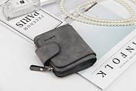 Жіночий гаманець, клатч Baellerry Forever Mini, балери. Темно-сірий. Замша PU, фото 7