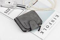 Жіночий гаманець, клатч Baellerry Forever Mini, балери. Темно-сірий. Замша PU, фото 8
