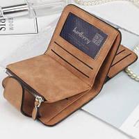 Жіночий гаманець, клатч Baellerry Forever Mini, балери. Коричневий. Замша PU, фото 3