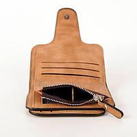 Жіночий гаманець, клатч Baellerry Forever Mini, балери. Коричневий. Замша PU, фото 5
