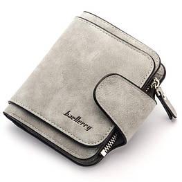 Жіночий гаманець, клатч Baellerry Forever Mini, балери. Сірий. Замша PU