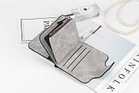 Женский кошелек, клатч Baellerry Forever Mini, балери. Серый. Замша PU, фото 5