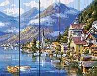 "Картина по номерам на дереве. Rainbow Art ""Живописная Австрия"" GXT6936-RA,малювання за номерами, картины по"