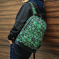 Молодежный рюкзак с принтом Конопля, Cannabis. Для путешествий, тренировок, учебы, фото 2