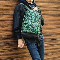 Молодежный рюкзак с принтом Конопля, Cannabis. Для путешествий, тренировок, учебы, фото 3