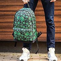 Молодежный рюкзак с принтом Конопля, Cannabis. Для путешествий, тренировок, учебы, фото 4