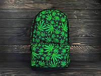 Молодежный рюкзак с принтом Конопля, Cannabis. Для путешествий, тренировок, учебы, фото 5