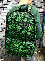 Молодежный рюкзак с принтом Конопля, Cannabis. Для путешествий, тренировок, учебы, фото 6