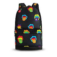 Крутой женский рюкзак с принтом Губы. Для учебы, путешествий, тренировок, фото 2