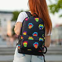Крутой женский рюкзак с принтом Губы. Для учебы, путешествий, тренировок, фото 5