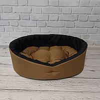 Лежанка для собак и котов койот/черный, фото 3