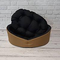 Лежанка для собак и котов койот/черный, фото 5