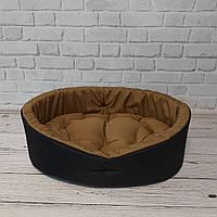 Будиночок, Лежак, Лежанка для собак і котів чорний/койот, фото 3