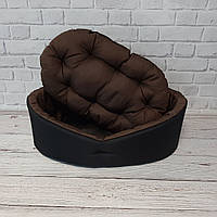 Лежак для тварин чорний/коричневий, фото 3