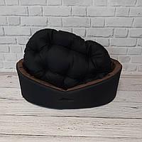 Лежак для тварин чорний/коричневий, фото 5