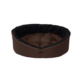 Лежанка, лежак для собак и котов коричневый/черный