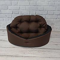 Лежанка, лежак для собак и котов коричневый/черный, фото 2