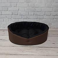Лежанка, лежак для собак и котов коричневый/черный, фото 5