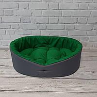Лежак для животных, лежанка для собак и котов серый/зеленый, фото 4