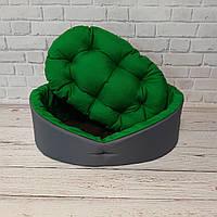 Лежак для животных, лежанка для собак и котов серый/зеленый, фото 5