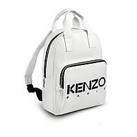 Стильний шкіряний жіночий рюкзак KENZO, кензо. Білий, фото 6