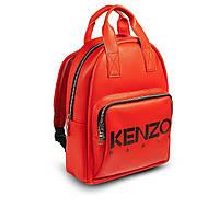 Стильный кожаный женский рюкзак. Красный, фото 4